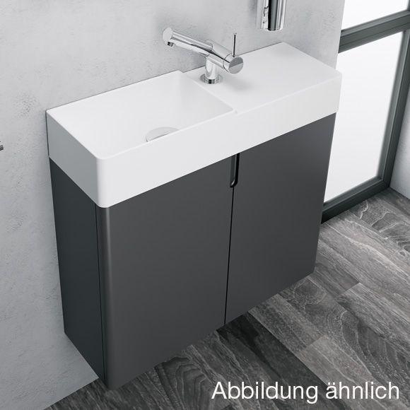 Cosmic Fancy Waschtisch Mit Unterschrank Mit 2 Turen B 60 H 60 T 20 Cm Weiss Matt Weiss Matt Unterschrank Badezimmer Design Waschtisch