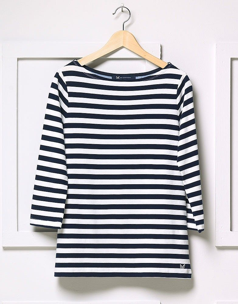 08b27bfd27da Women's Ultimate Breton in Navy/White Linen Stripe from Crew Clothing,  £38.00
