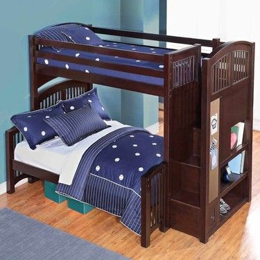 Best Bayside Furnishings Staircase Twin Over Full Bunk Bed Bayside Furnishings Furnishings Full 400 x 300