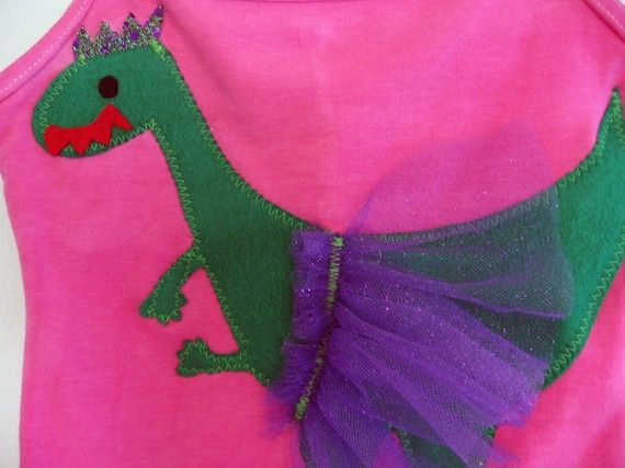LEOTARD DANCING DINO Size 12/18 months 2/4 years. by WhimsyRanch