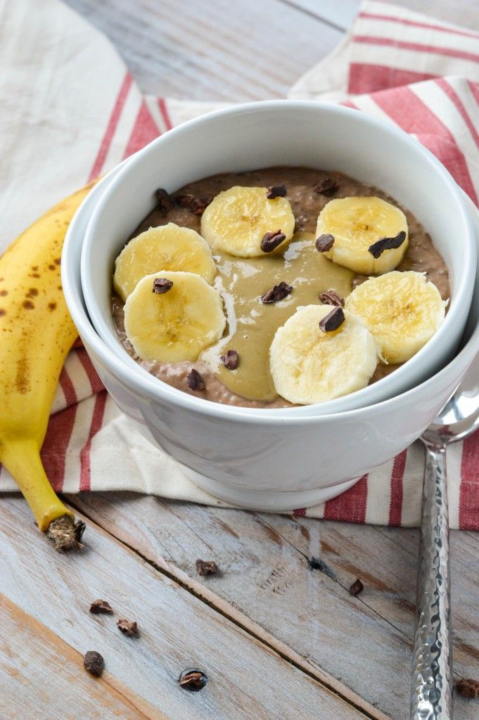 Chocolate Banana Coconut Chia Pudding is the perfect vegan, Whole 30-compliant breakfast that does not involve eggs. Eat it as a snack and dessert, too!