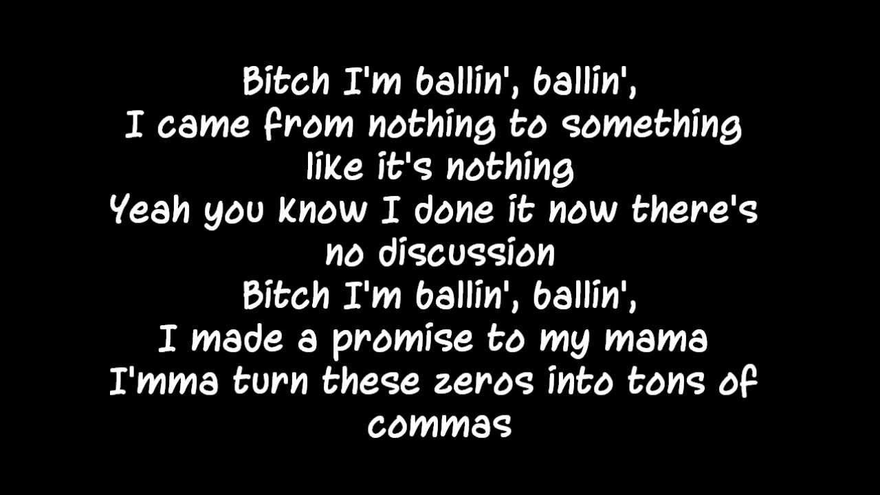 Logic - Ballin (Ft Castro) Lyrics | Music To My Ears