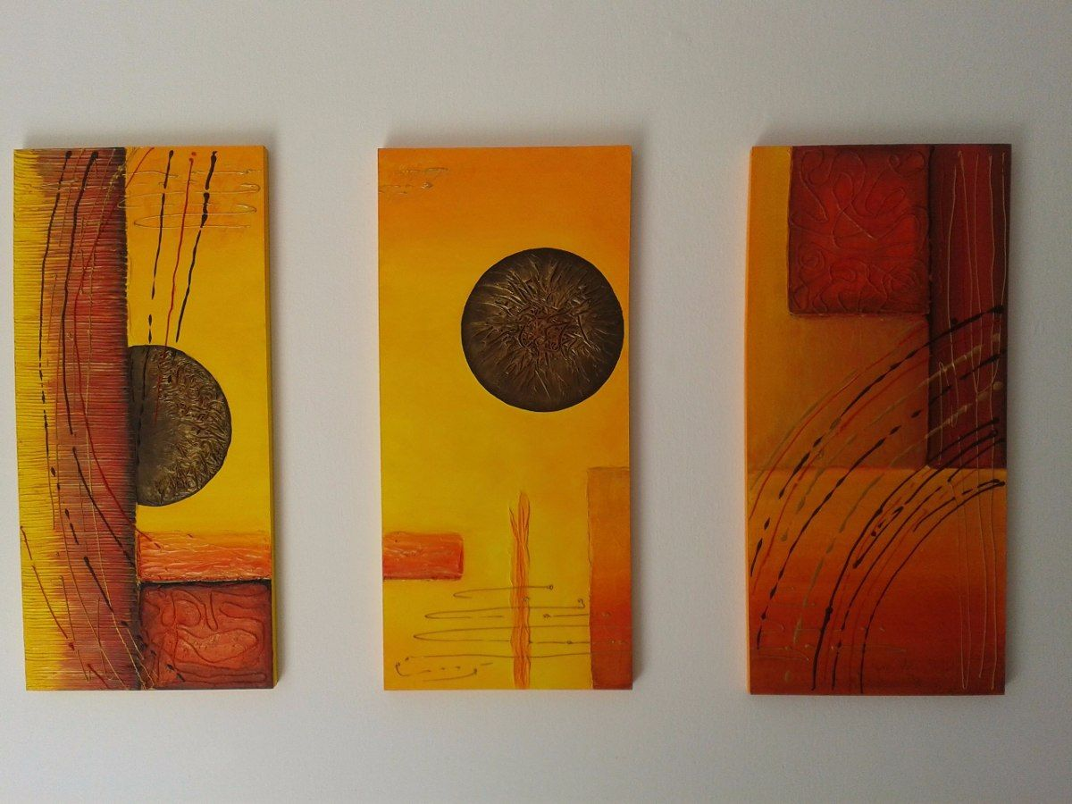 Cuadro Abstracto Sobre Lienzo Con Bastidor 40 X 60 Cm - $ 599,00 en MercadoLibre