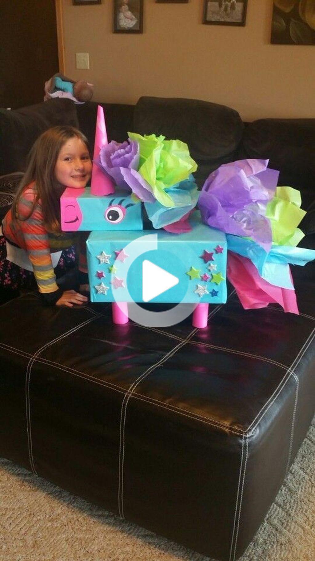 30 Adorable DIY Unicorn Valentines Boxes Ideas