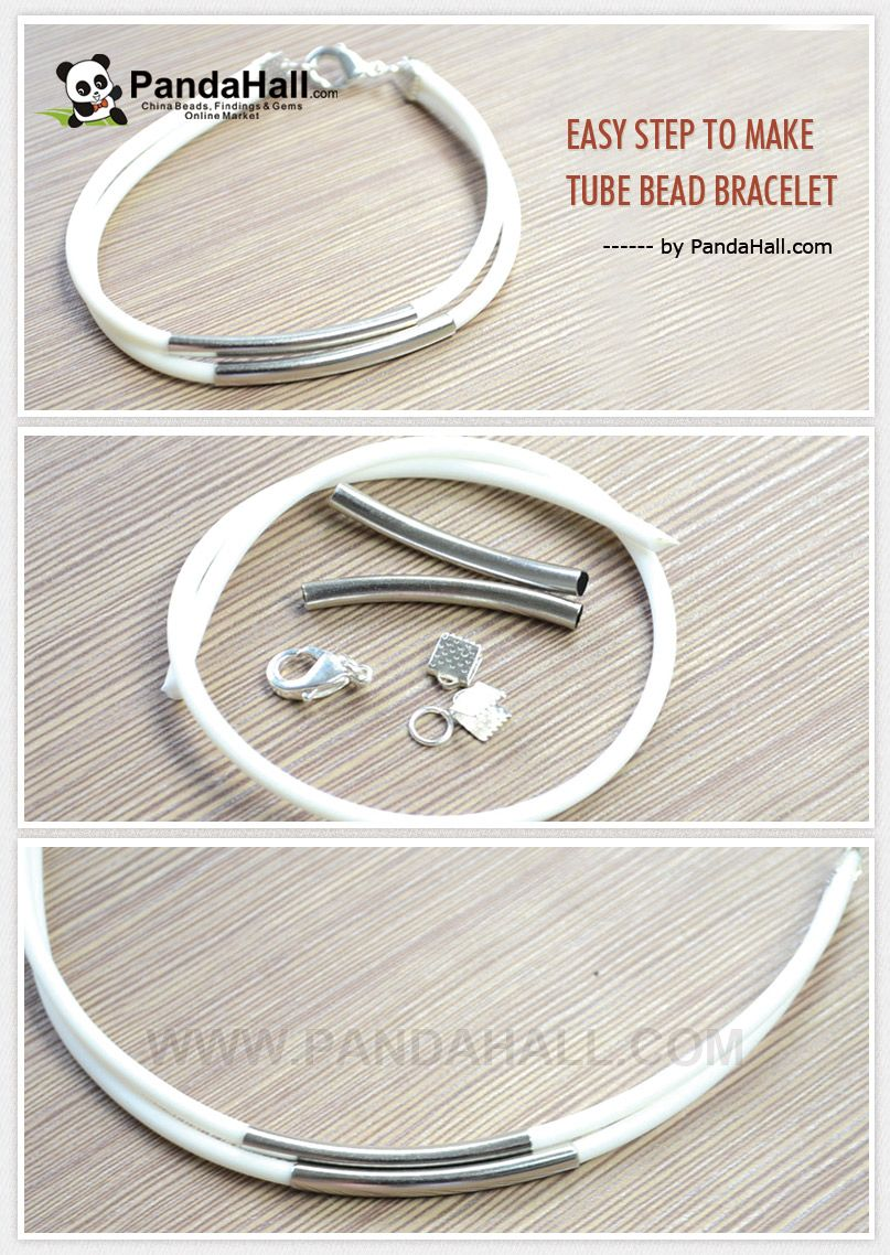 Easy Step to Make Tube Bead Bracelet