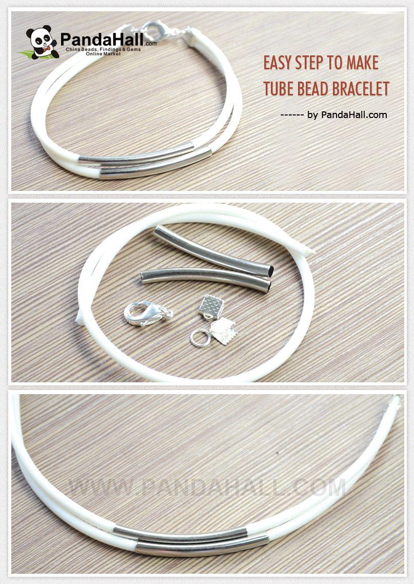 Easy Step to Make Tube Bead Bracelet