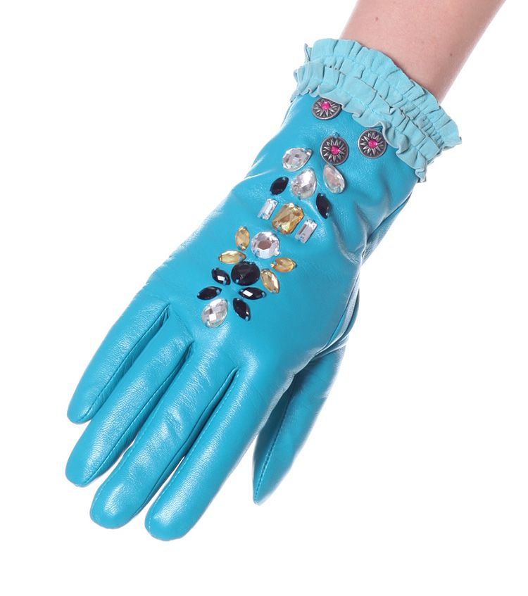 Odd Molly Power glove dk turquoise