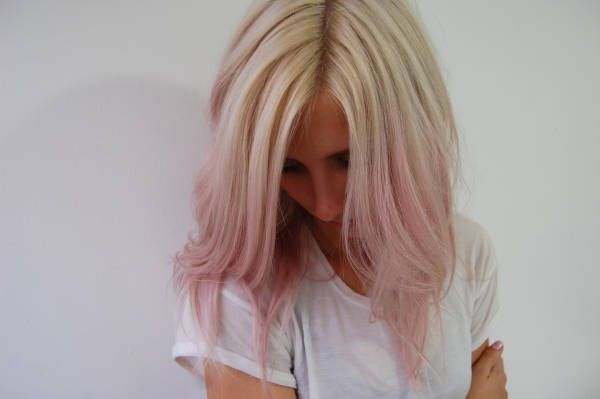 Pastel pink ombre