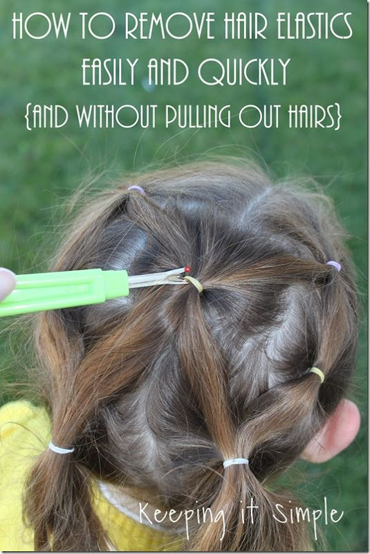 Hair Hack: How to Remove Hair Elastics Quickly and Easily ...