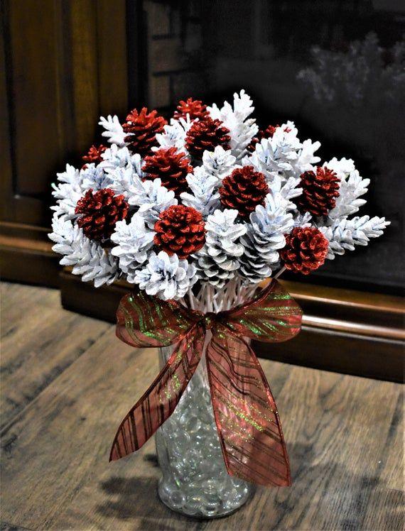 Pine Cone Flowers, ONE Dozen Winter Cherry Delight Pinecone Flowers