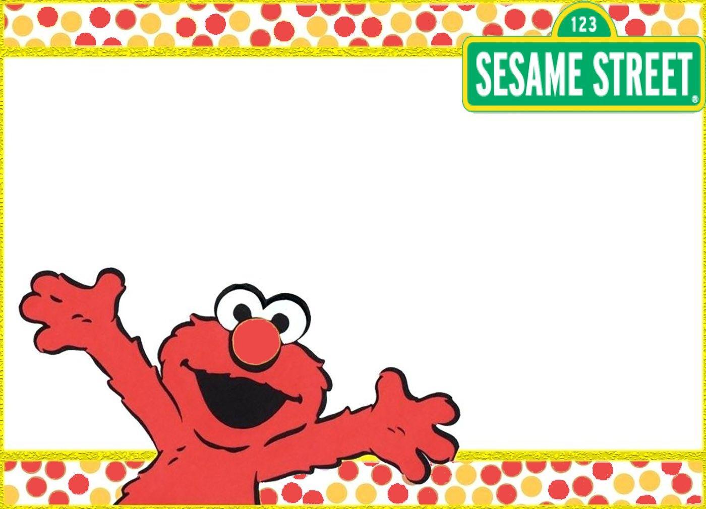 Printable Sesame Street Elmo Invitation Card Elmo Invitations Birthday Card Template Elmo Birthday