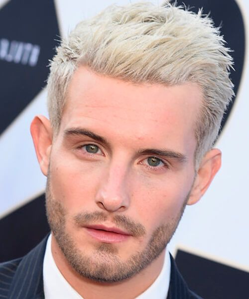 Casual Blonde Short Hairstyle For Men Short Blonde Hair Men Hair Color Medium Hair Styles