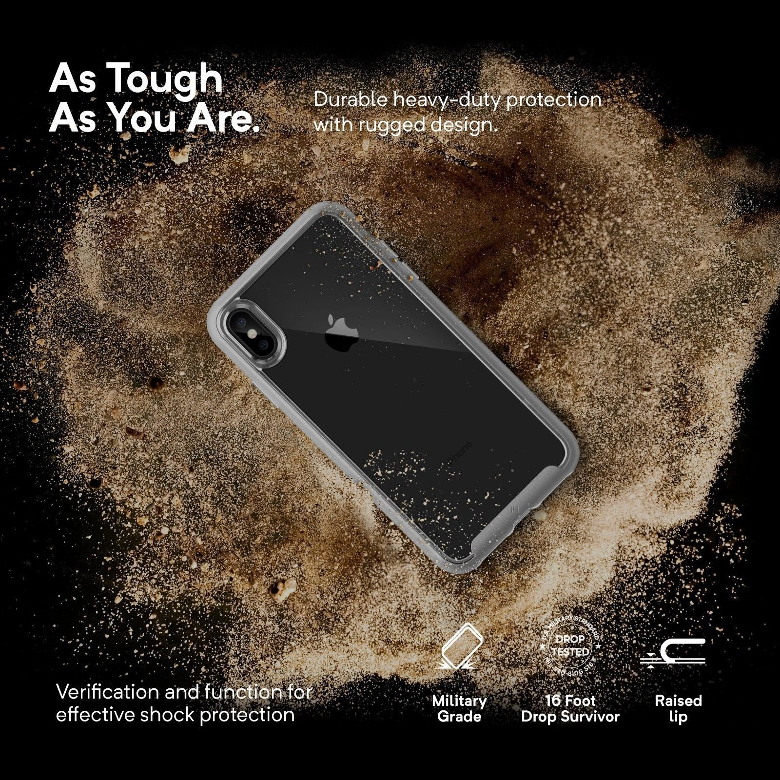 e028957391e For iPhone XS   XR   XS Max Caseology  SKYFALL  Shockproof Clear Hard Case