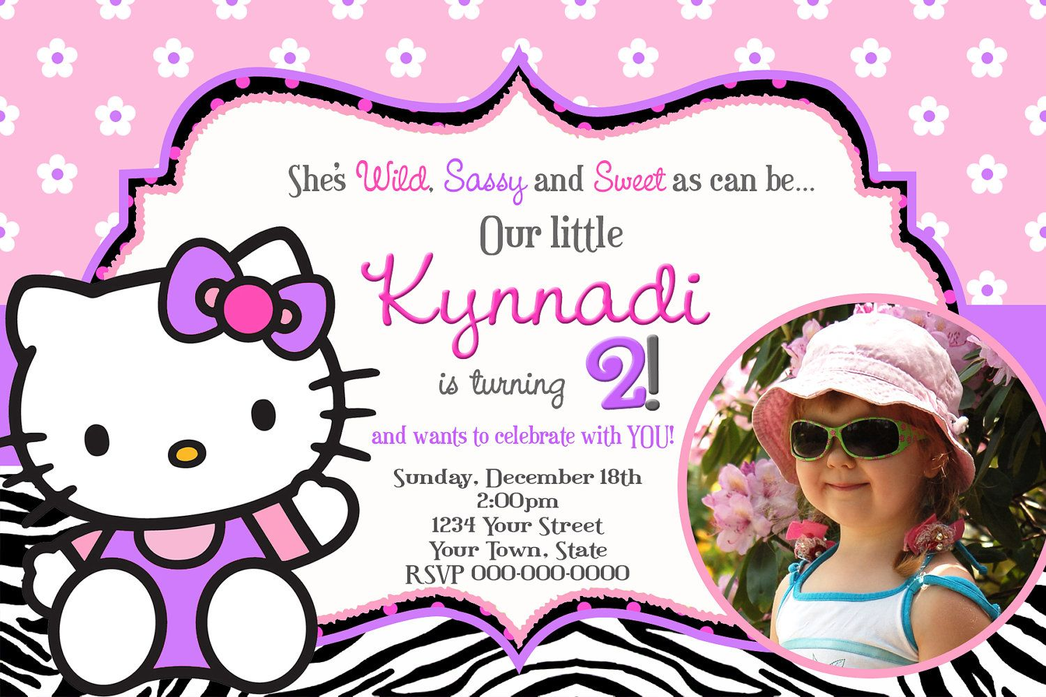 hello kitty birthday invitation template