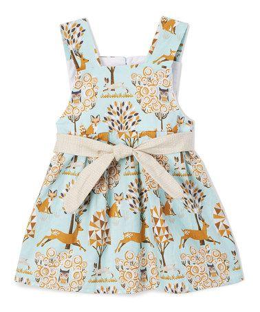 This Light Blue & Beige Deer Swing Dress - Infant & Toddler is perfect! #zulilyfinds