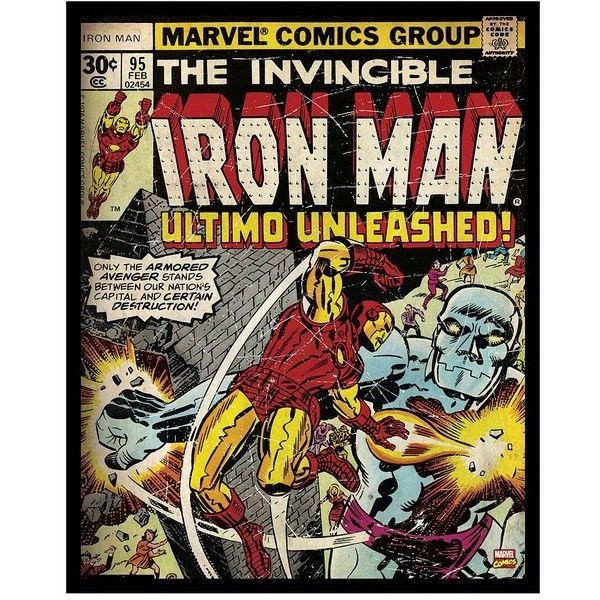Marvel Comic Iron Man Ultimo Unleashed Framed Wall Art ($30) ❤ Liked On  Polyvore