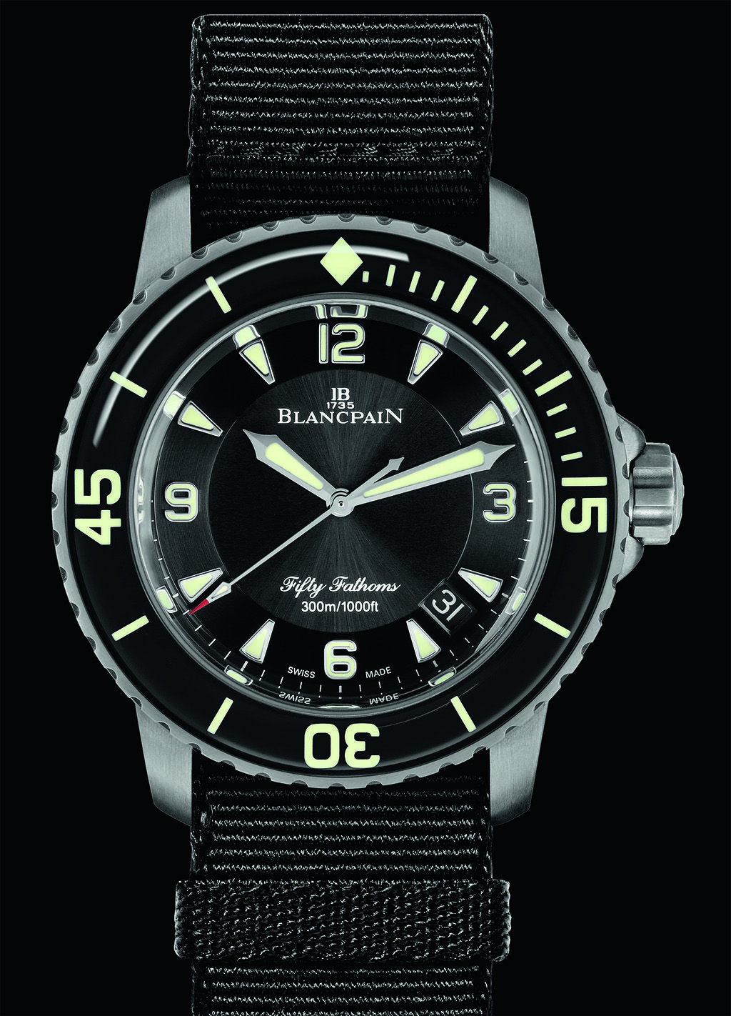 New Blancpain Fifty Fathoms In Titanium Blancpain Fifty Fathoms Swiss Luxury Watches