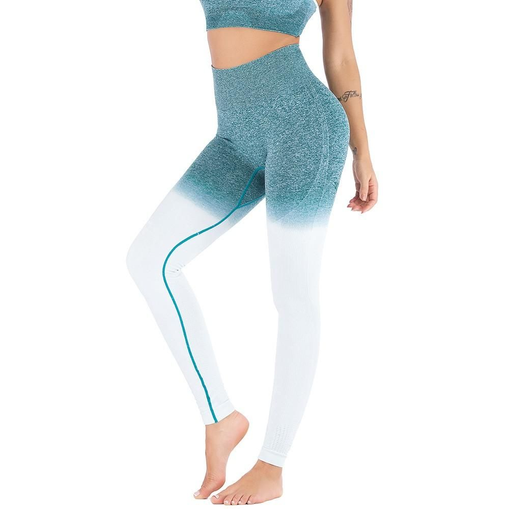 6a8110963c Women Gym Shark Vital Energy Seamless Leggings for Fitness Push Up High  Waist Tummy Control Gradient Sport Yoga Workout