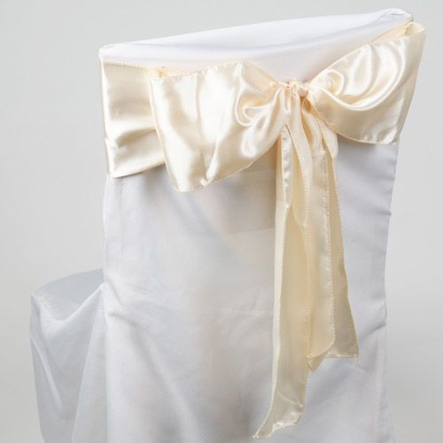 10 Ivory Satin Chair Sashes 6x106 Wedding Chair Sashes Chair Sashes Wedding Venue Decorations