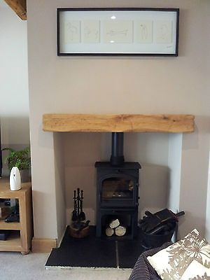 Oak mantel fixings