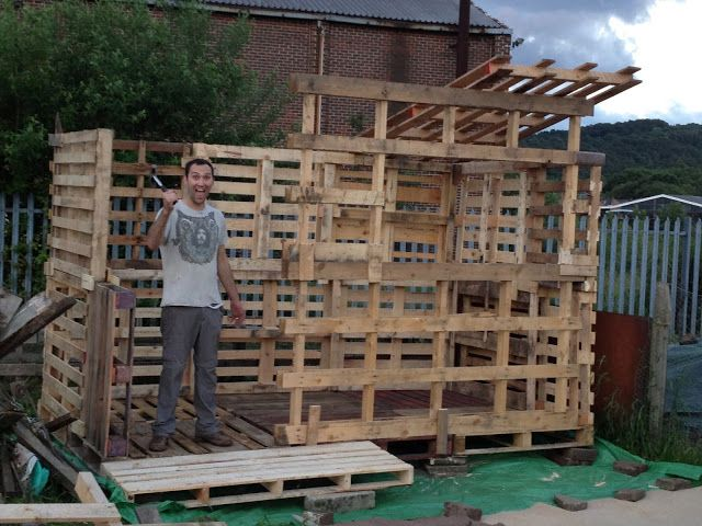 Pallet Shed Build Multiple Step By Step Photos Building