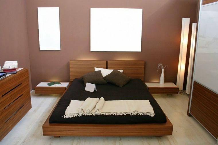 chambre coucher pour adulte avec murs marron - Couleur De Peinture Pour Chambre Adulte