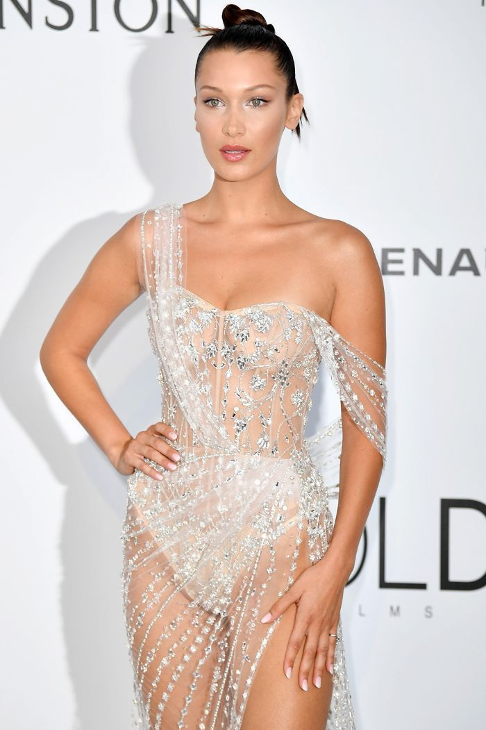 ff27b17536 Bella Hadid Just Wore a Completely See-Through Gown on the Red ...