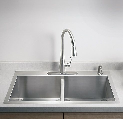 Kohler K 3672 Stainless Steel Kitchen Sink Double Basin Kitchen