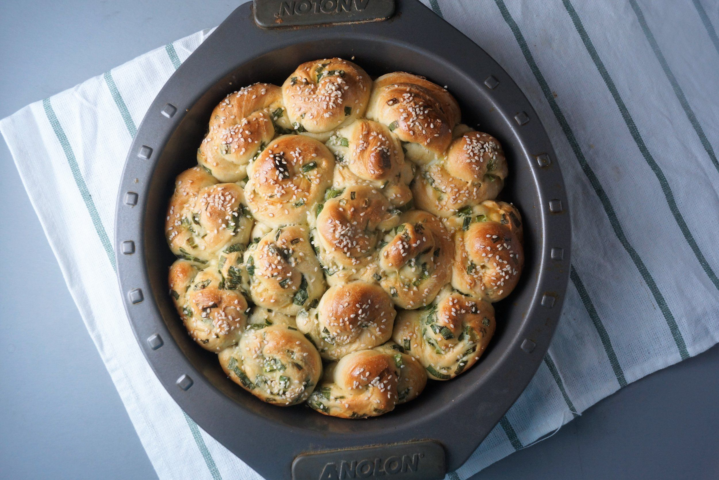 Scallion Milk Bread Rolls | Wisconsin from Scratch