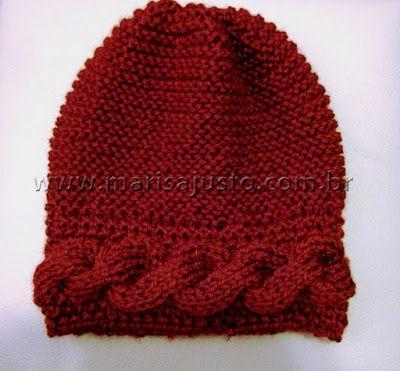 Marisa Almeida Tricot Crochet   Gorro Tricot Tranças  82b570e33a4