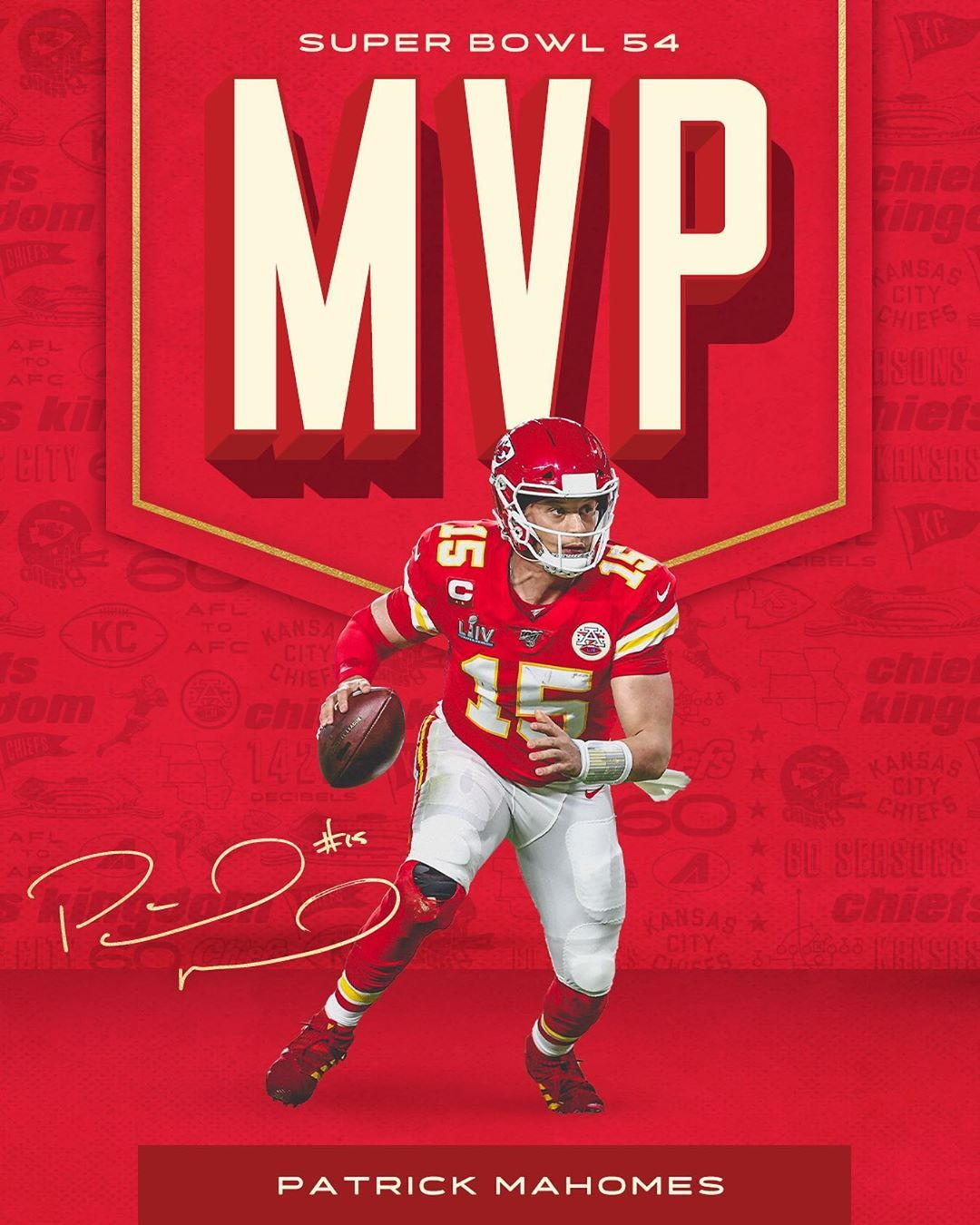 Kansas City Chiefs On Instagram Mvpat Super Bowl Edition In 2020 Chiefs Wallpaper Chiefs Logo Kansas City Chiefs Logo