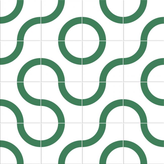 Adesivo para Azulejo - Curves