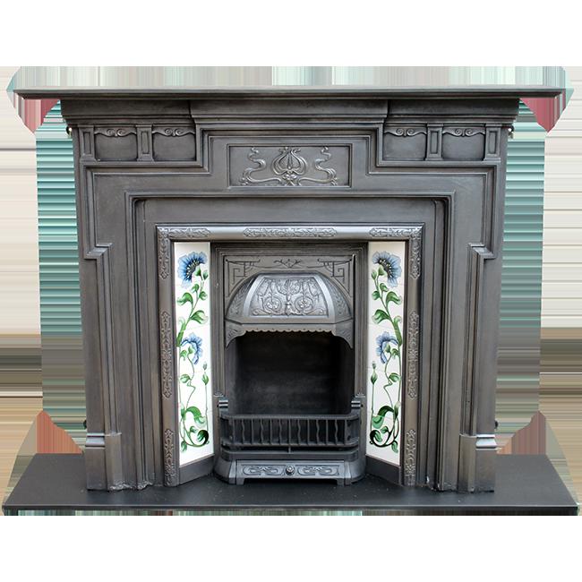 Art Nouveau Cast Iron Fireplace Surround - Buy From VFS