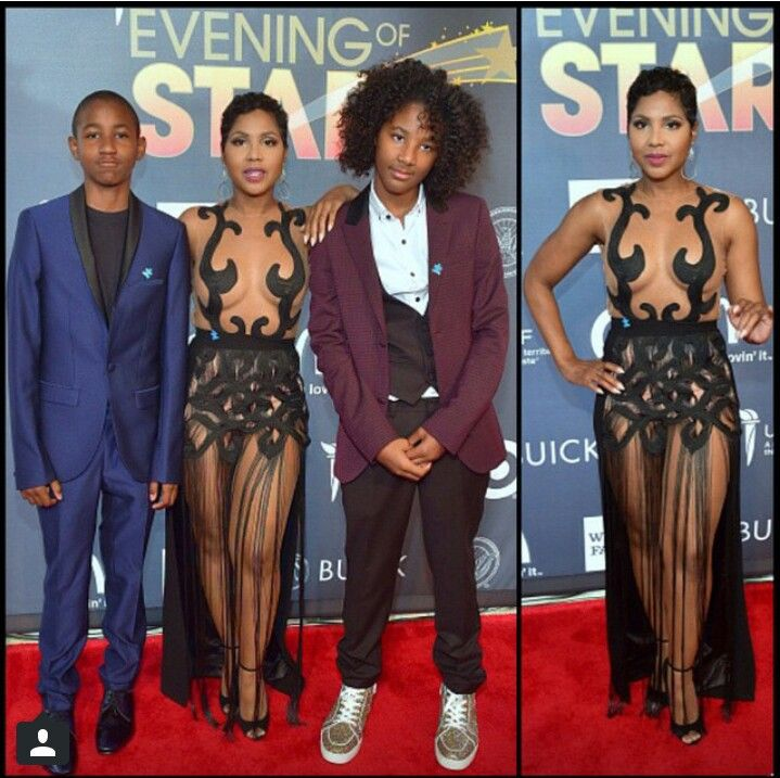 Toni Braxton And Sons Diesel And Denim