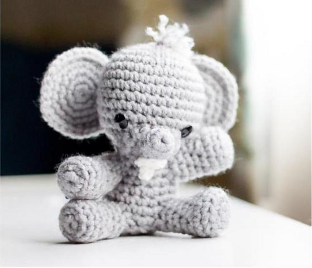 Baby Elephant Crochet Animal by Fair Isle Yarn   free pattern ...