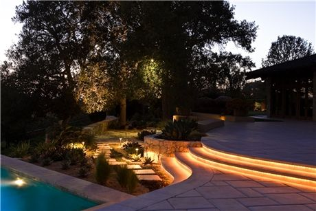 Led rope lighting illuminates the path of a patio elegantly led rope lighting illuminates the path of a patio elegantly blending functionality with aloadofball Images