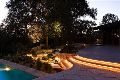 #LED Rope Lighting Illuminates The Path Of A #patio Elegantly, Blending  Functionality With