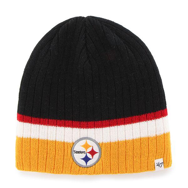 best loved 6151b 29943 Pittsburgh Steelers Buddy Beanie Black 47 Brand KID Hat