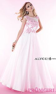 Buy Long Open Back Evening Gown by Alyce at PromGirl