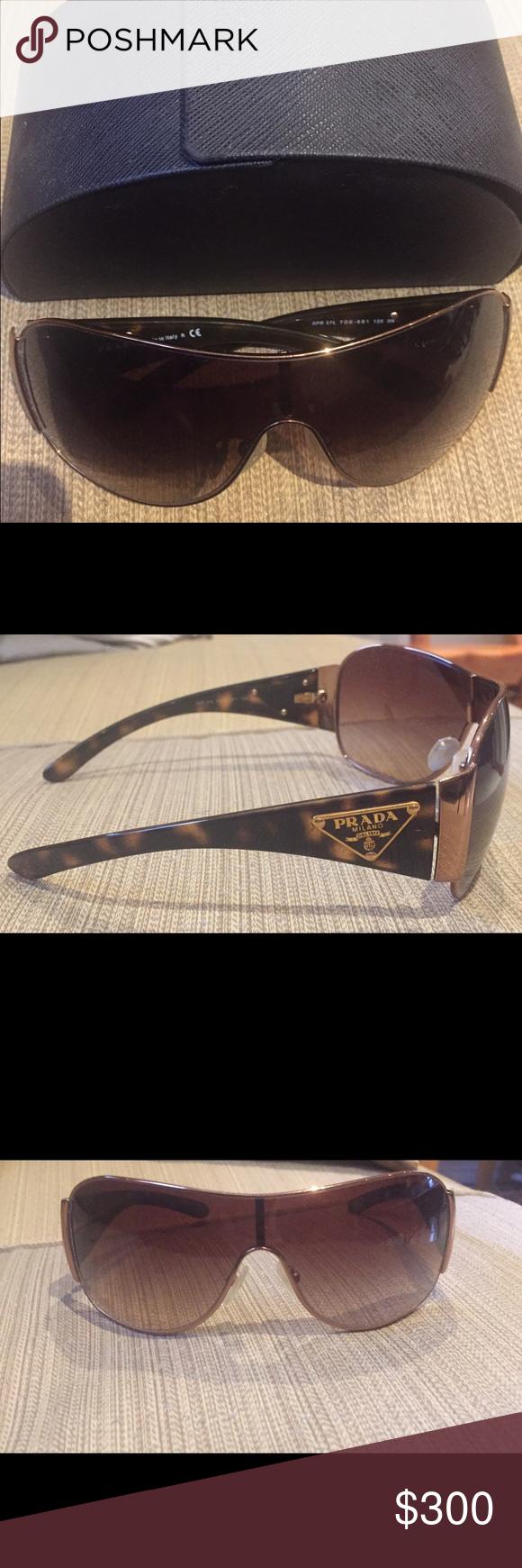 5f26437f49ec Prada sunglasses with case Prada sunglasses with bronze trim with case  looking for  300 Accessories Sunglasses