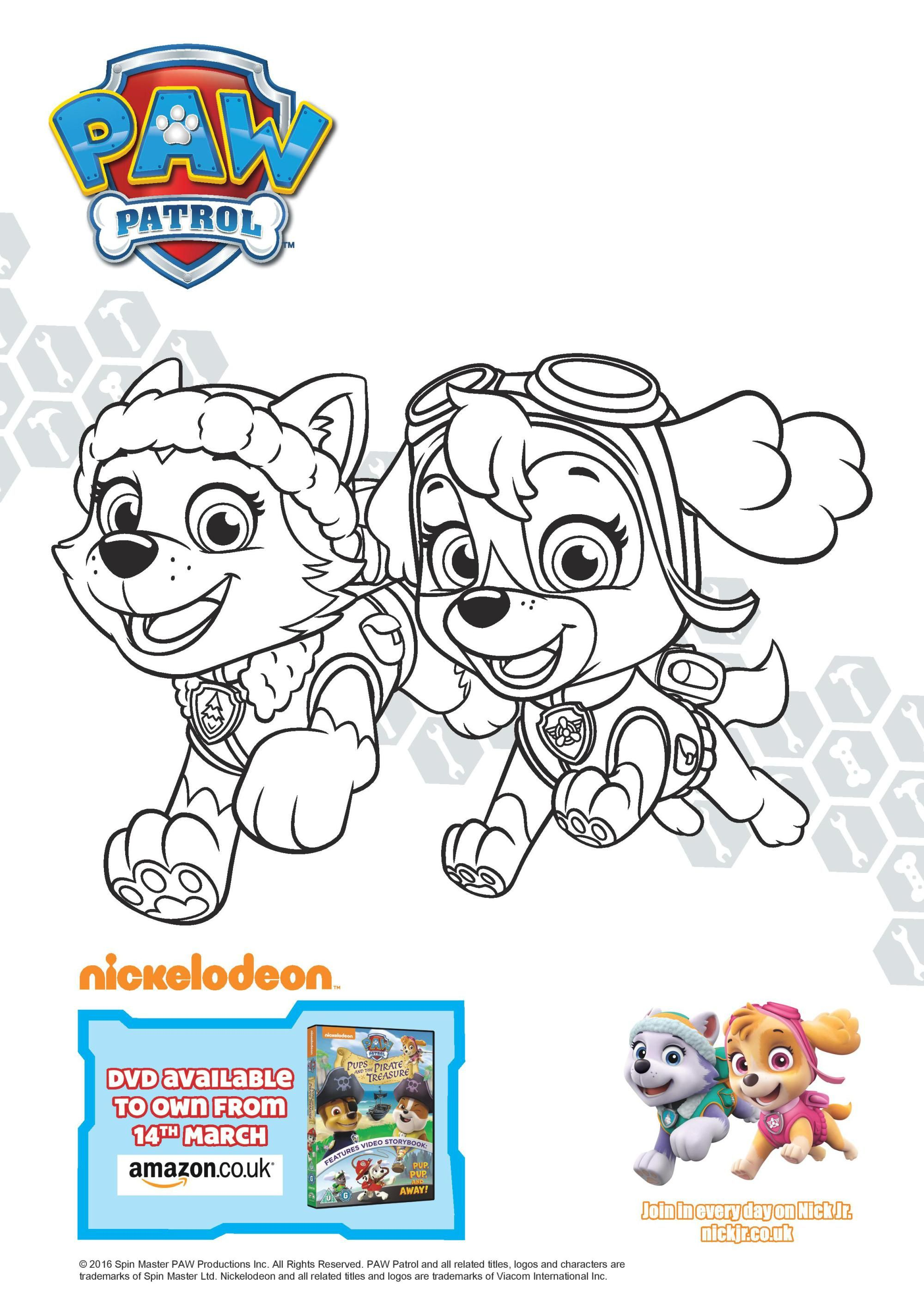 Paw Patrol Pups And The Pirate Treasure Colouring Page Printables And Dvd Giveaway In The Playroom Paw Patrol Coloring Paw Patrol Coloring Pages Paw Patrol Pups