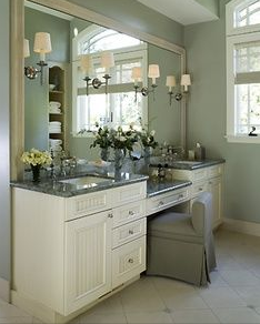This Is My Favorite Double Vanity With Makeup Station Stylish