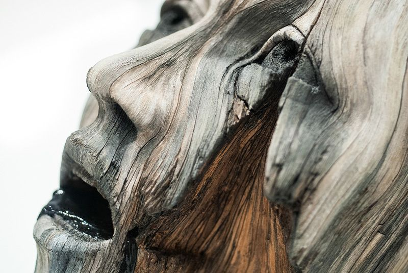 """Christopher David White is a U.S-based artist who makes hyper-realistic """"wooden"""" sculptures that are actually made of ceramic. Currently seeking a Master's"""
