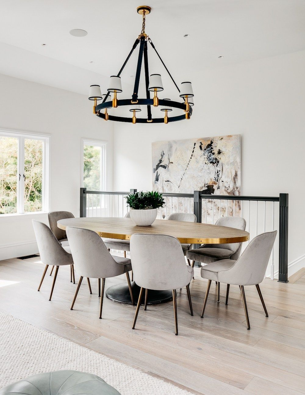 Oval Dining Table Modern White Interior House From Full House