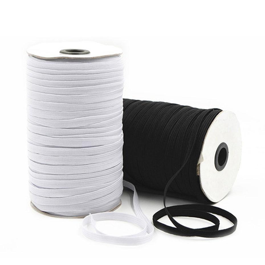 Diy Braided Elastic Sewing Band Cord 100 Yards 3mm 6mm Wide In 2020 Elastic For Sewing Diy Braids Sewing Accessories