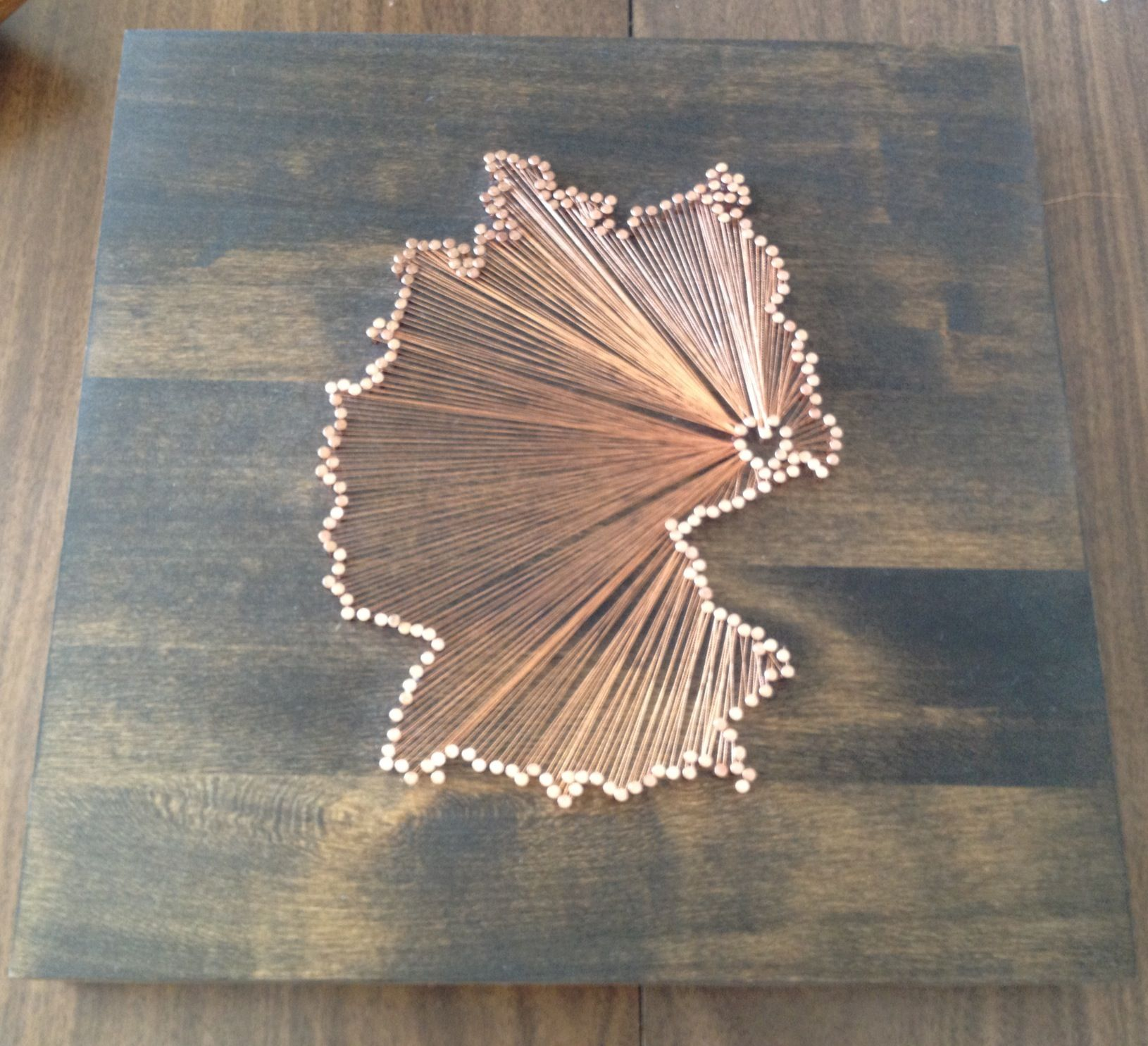 String Art Of Germany With My Hometown Dresden As The