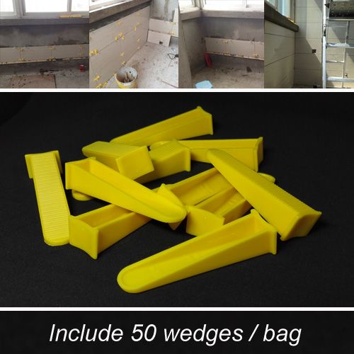 Tile Leveling System For The Flooring Spacer Level Tools Clips Included Plastic Wedges 50pcs And Need T Tile Leveling System Diy Home Repair Construction Tools