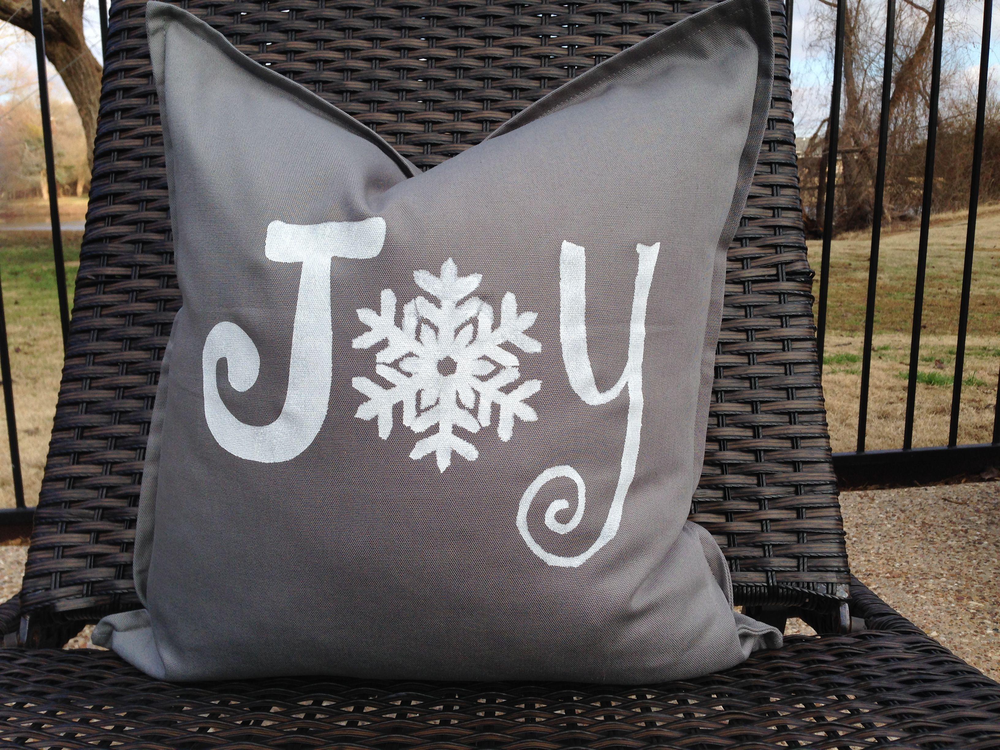 """JOY"" pillow cover www.facebook.com/31stockroom"