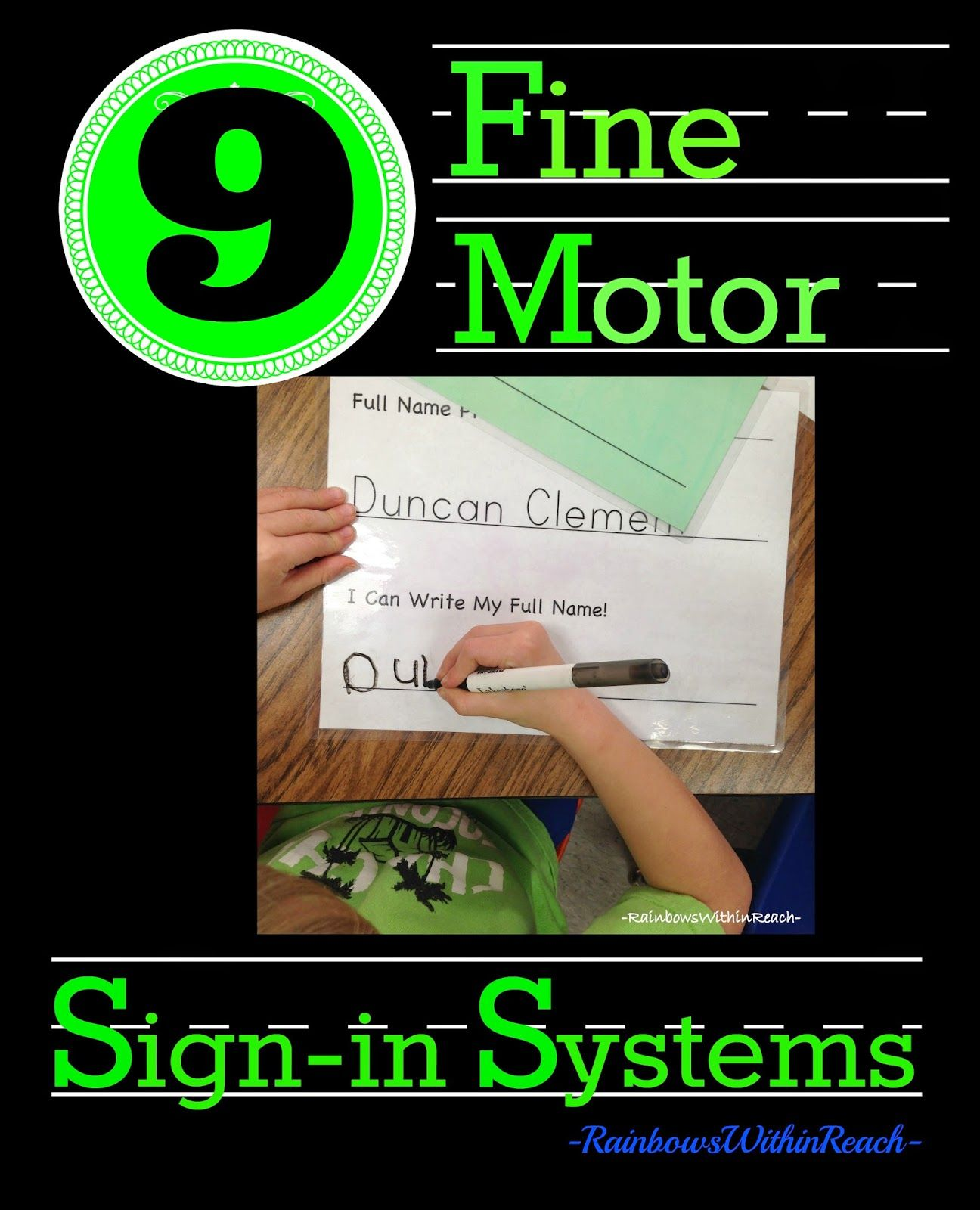 9 Examples Of Fine Motor Name Writing Exercises