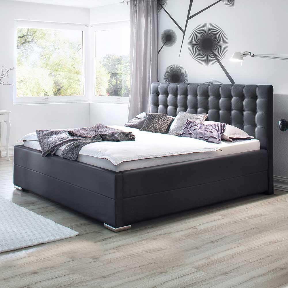 polsterbett mit lattenrost und bettkasten schwarz jetzt bestellen ... - Schlafzimmer Betten Mit Bettkasten